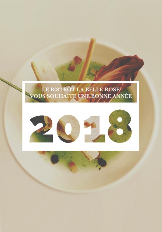 Bonne année 2018 La Belle Rose